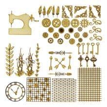 Sewing Machine Steampunk Kit Laser Cut 3mm MDF Industrial Art Picture Card Craft